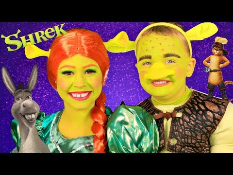 Shrek and Princess Fiona Makeup and Costumes