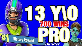 Pro 13 year old Fortnite live / VBUCKS GIVEAWAY TODAY / PS4 game play // 701 wins