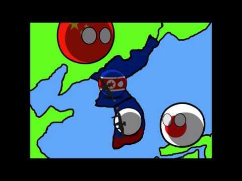 Animated War: Korean War 2.0 in Countryballs