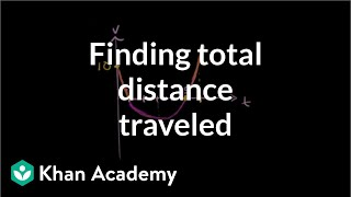 Total distance traveled by a particle | Differential Calculus | Khan Academy thumbnail