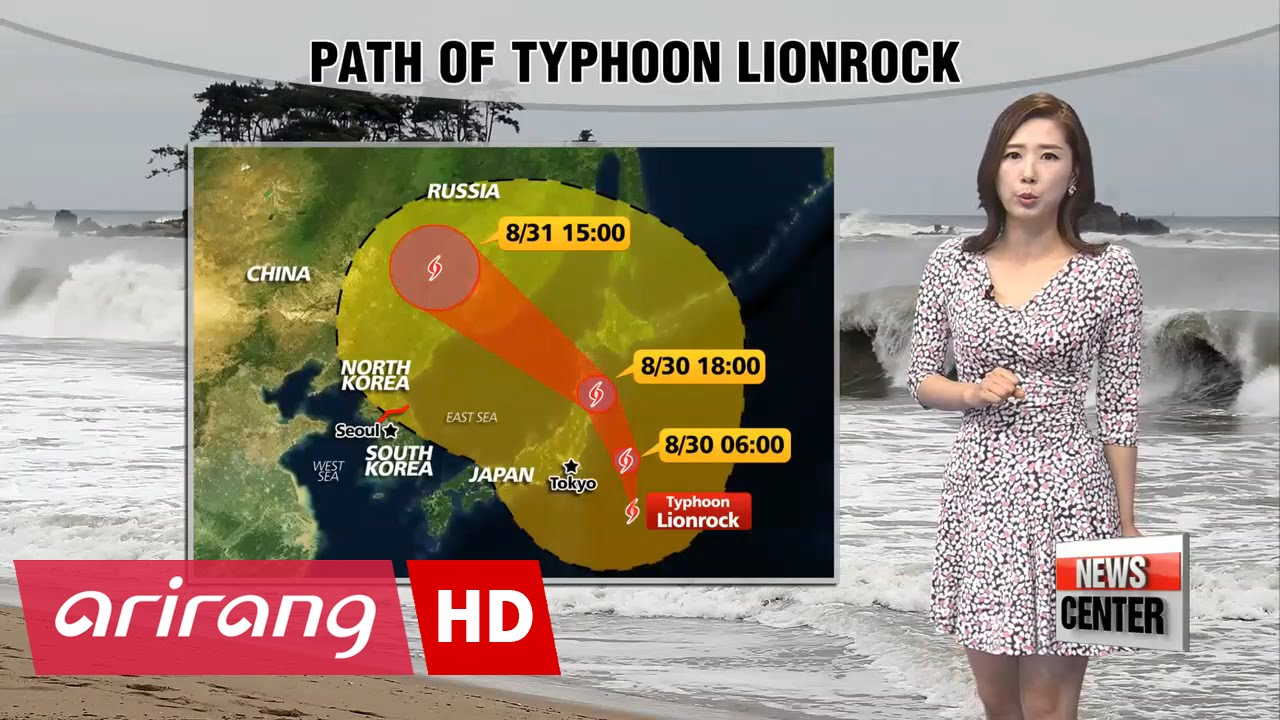 Parts of Korea feel effects of Typhoon Lionrock