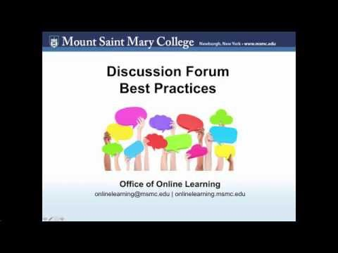 Discussion Forum Best Practices for Students