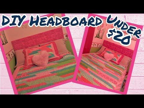 DIY DOLLAR TREE/Joann's TUFTED HEADBOARD | UNDER $20 | EASY HEADBOARD | NO SEW