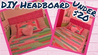 DIY DOLLAR TREE/Joann's TUFTED HEADBOARD | UNDER $20 | EASY HEADBOARD | NO SEW