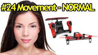 Tutorial #24 Parrot Bebop Drone Movements In NORMAL Piloting Mode - Quadcopter With Camera