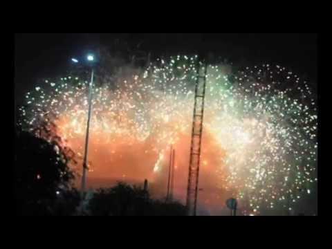 OPENING CEREMONY FIREWORKS 2014 WINTER OLYMPICS