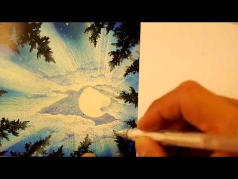 Stampscapes 101: Video 107. Blue Moon Beams.