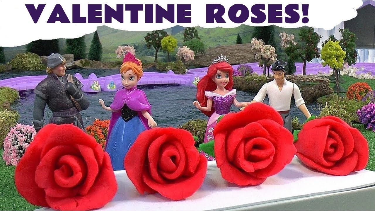 Frozen Toys Surprise Play Doh Valentines Day Roses My Little Pony Surprise Egg Play Doh Youtube