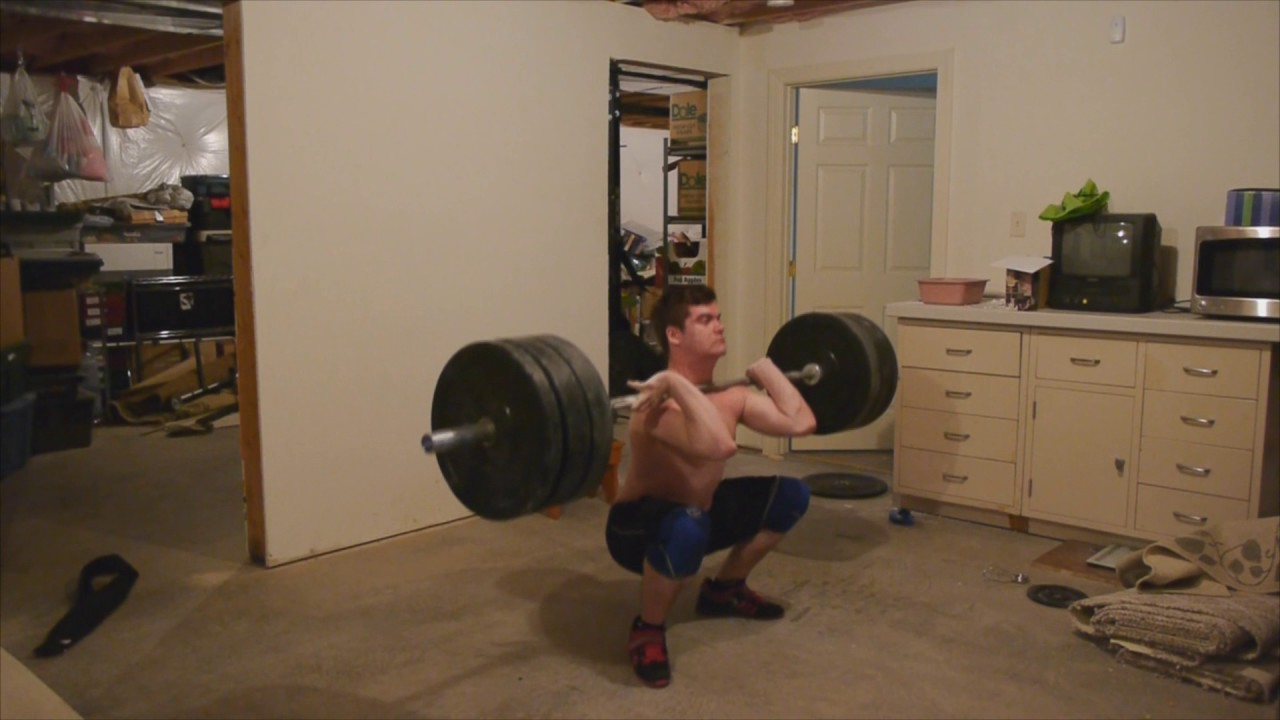 225 pc and push press, 275 cj attempt and 295 clean #1