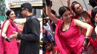 Divya Khosla ZABARDAST Desi Dance In T Series Ganpati Visarjan