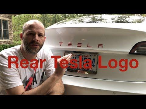 Rear Tesla Model 3 Logo
