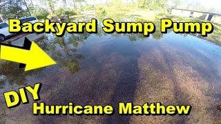 How to Fix Back Yard Flood, DIY, Hurricane Matthew Emergency