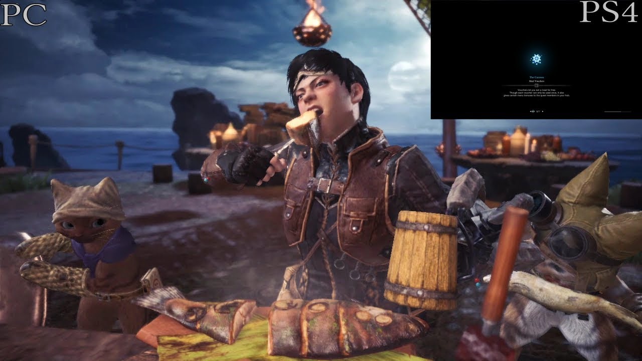 Monster Hunter World - Loading time comparison between PC and PS4