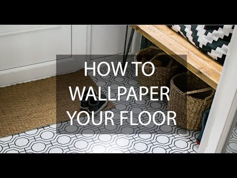 How To Wallpaper A Floor The Easy Way