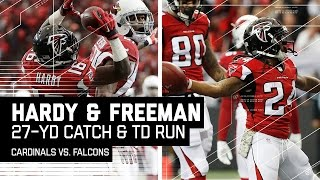 Justin Hardy's Ridiculous Catch Leads to Devonta Freeman's TD! | Falcons vs. Cardinals | NFL