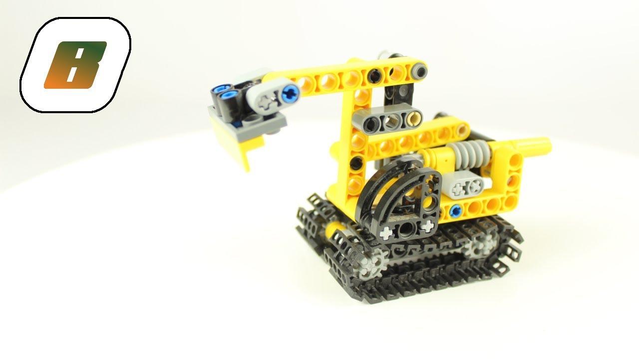lego® - speed build – 8259 – kleiner bagger mini excavator
