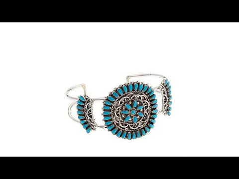 Chaco Canyon Zuni Kingman Turquoise Spiral Cuff