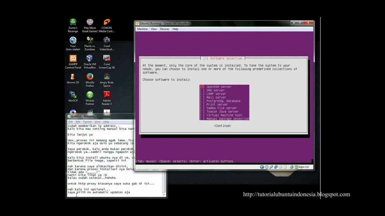 cara instal ubuntu di virtualbox