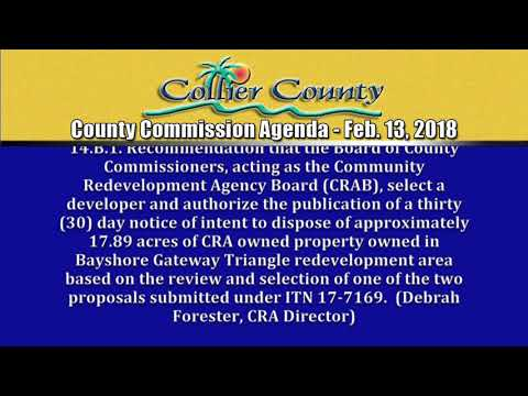 Collier County BCC Agenda for February 13, 2018