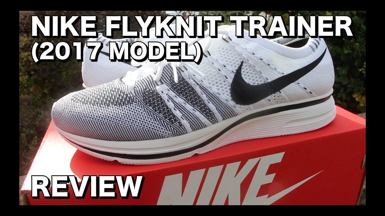 c90bb7e8ff0 Nike Flyknit Trainer Black White (2017 Model)