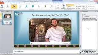 كيفية إنشاء حلقات PowerPoint video | lynda.com البرنامج التعليمي
