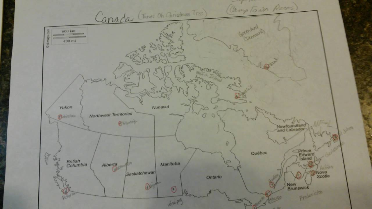 Map Of Canada Song.Capitals Of Canada Song