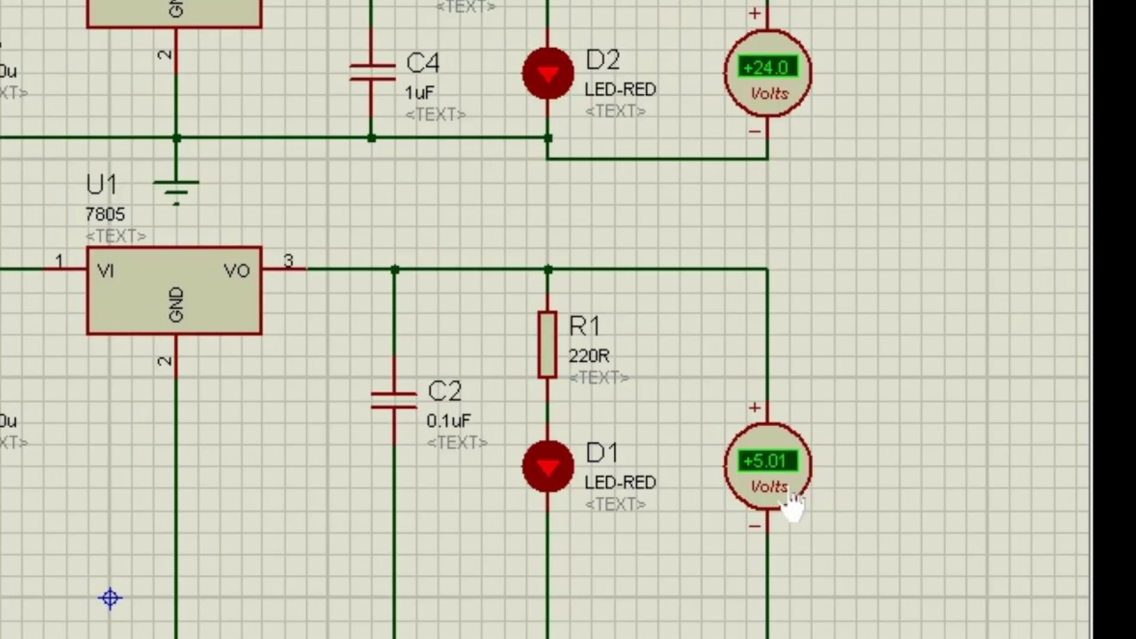5v 24v Dc Power Supply In Proteus