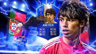 THIS CARD IS INSANE! 91 TEAM OF THE SEASON JOAO FELIX PLAYER REVIEW! FIFA 19 Ultimate Team