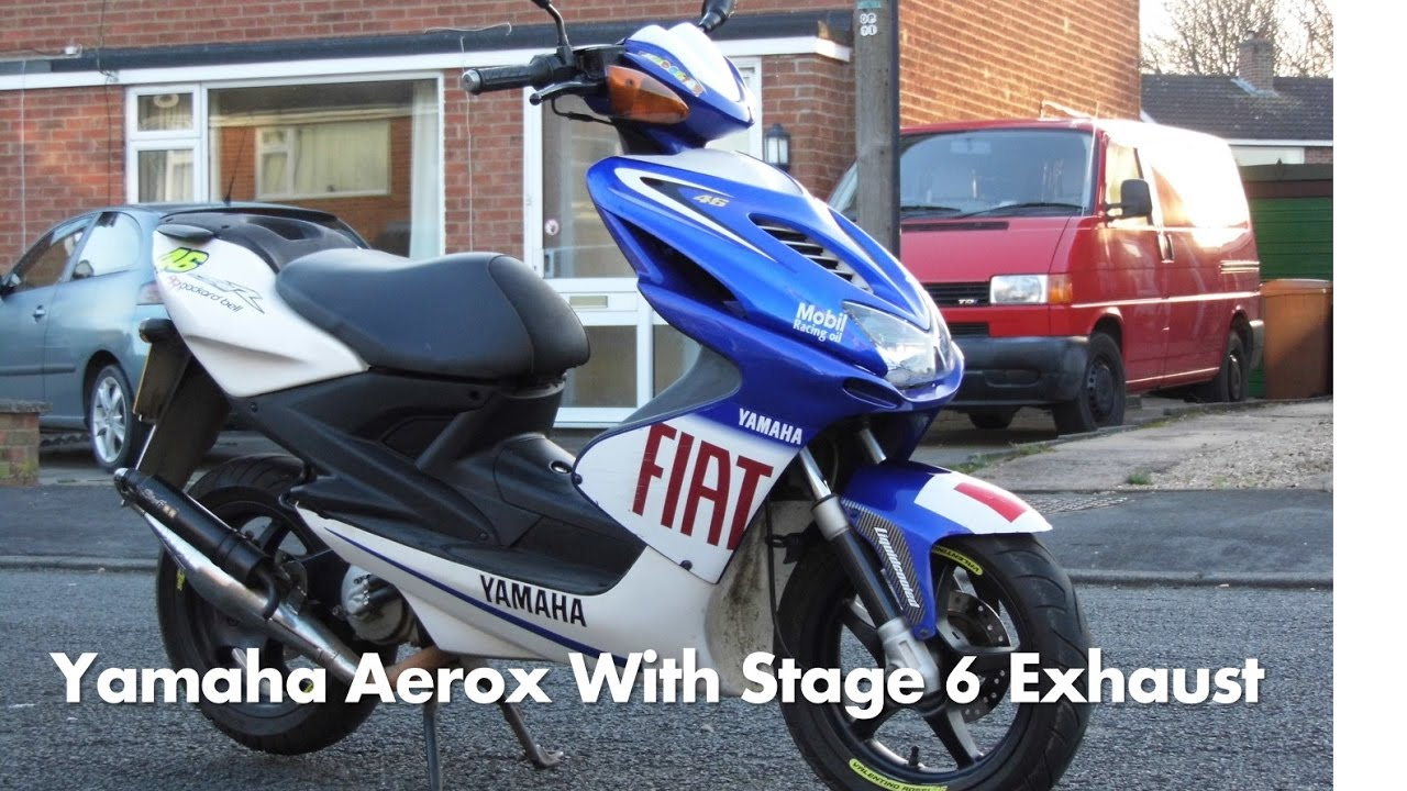 yamaha aerox yq 50cc start up with stage 6 exhaust pipe. Black Bedroom Furniture Sets. Home Design Ideas