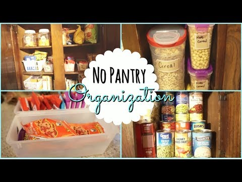 No Pantry Kitchen Cabinet Organizing I Organize/Declutter Series Ep.1