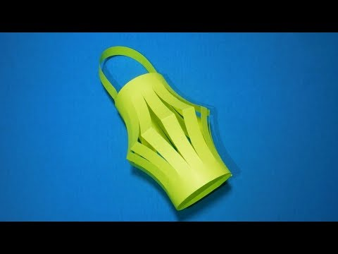 Как сделать фонарь из бумаги своими руками