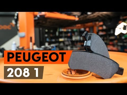 How to replace front brake pads / front brake pad set on PEUGEOT 208 1 (CA_,CC_) [TUTORIAL AUTODOC]