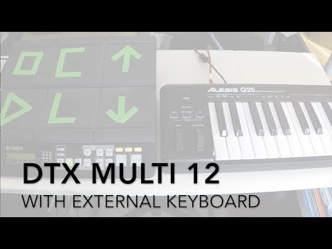First steps with Yamaha's DTX Multi 12 drum pads - Adrien