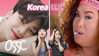 Korean Girls React To Makeup Commercials In U.S. vs. Korea | ????????????????