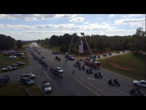 Polk County Police Department Detective Kristen Hearne Funeral Procession  10/3/17