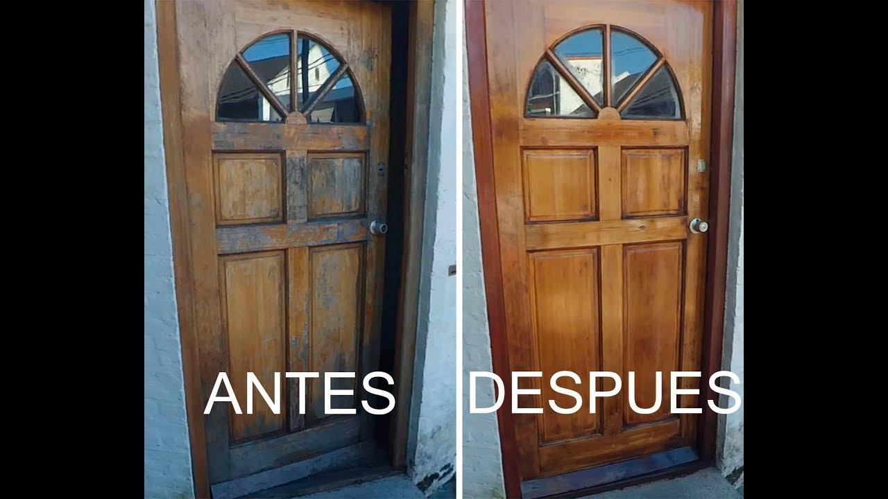 como restaurar una puerta de madera youtube