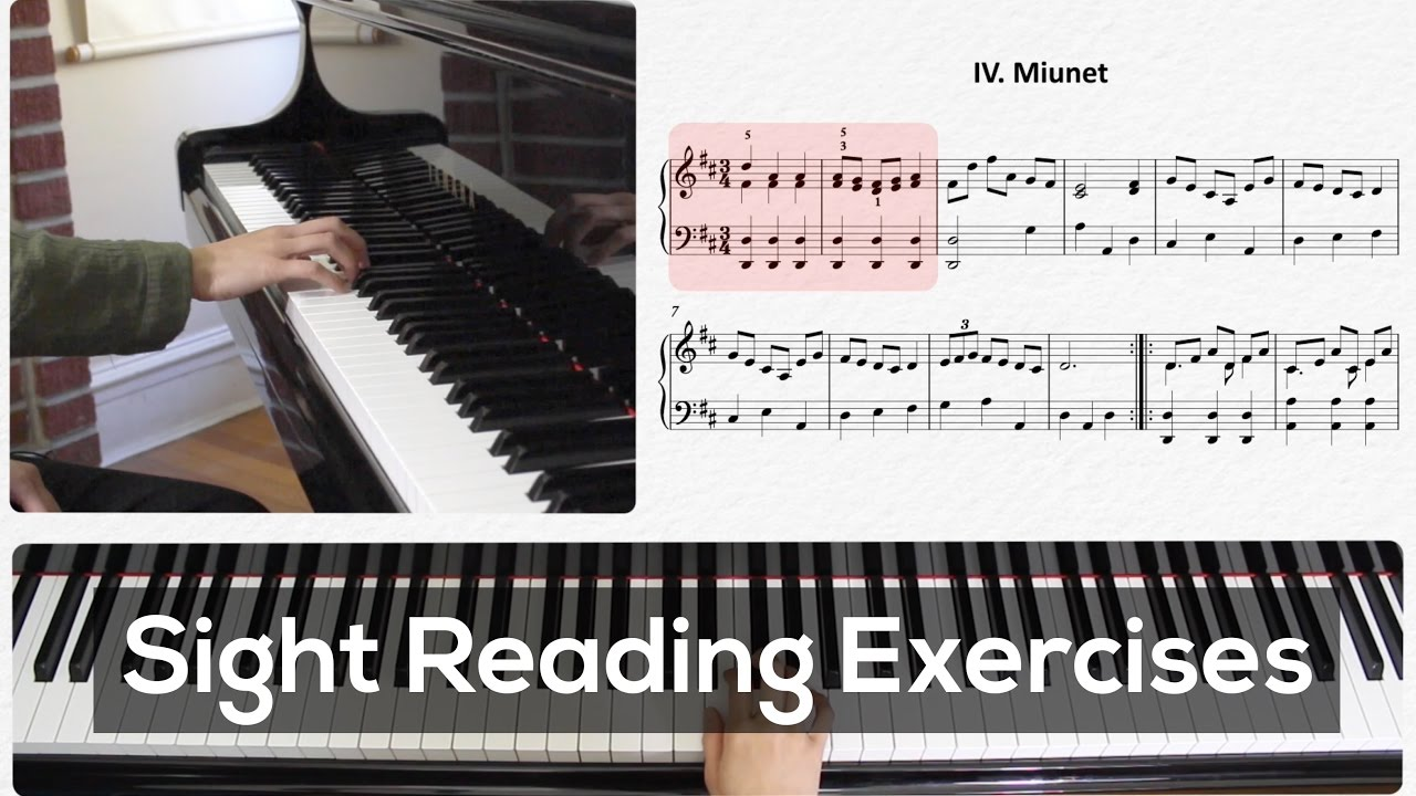 Sight Reading Sheet Music Exercises For Piano Video Lesson Youtube Reading Sheet Music Piano Video Piano Tutorials Sight read piano score