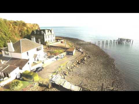 Drone Video. Aberdour,  Scotland, Fife. Music by Banco De Gaia 887.