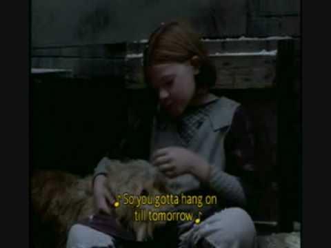 Alicia Morton in 1999 Annie singing Tomorrow
