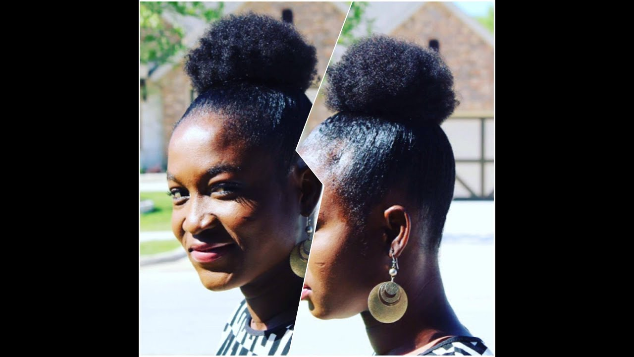 Sleek High Puff Short Natural Hair 4b 4c Youtube