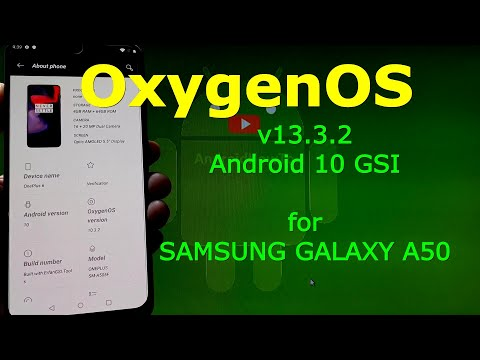 Oxygen OS Android 10 for Samsung Galaxy A50 - 20200515