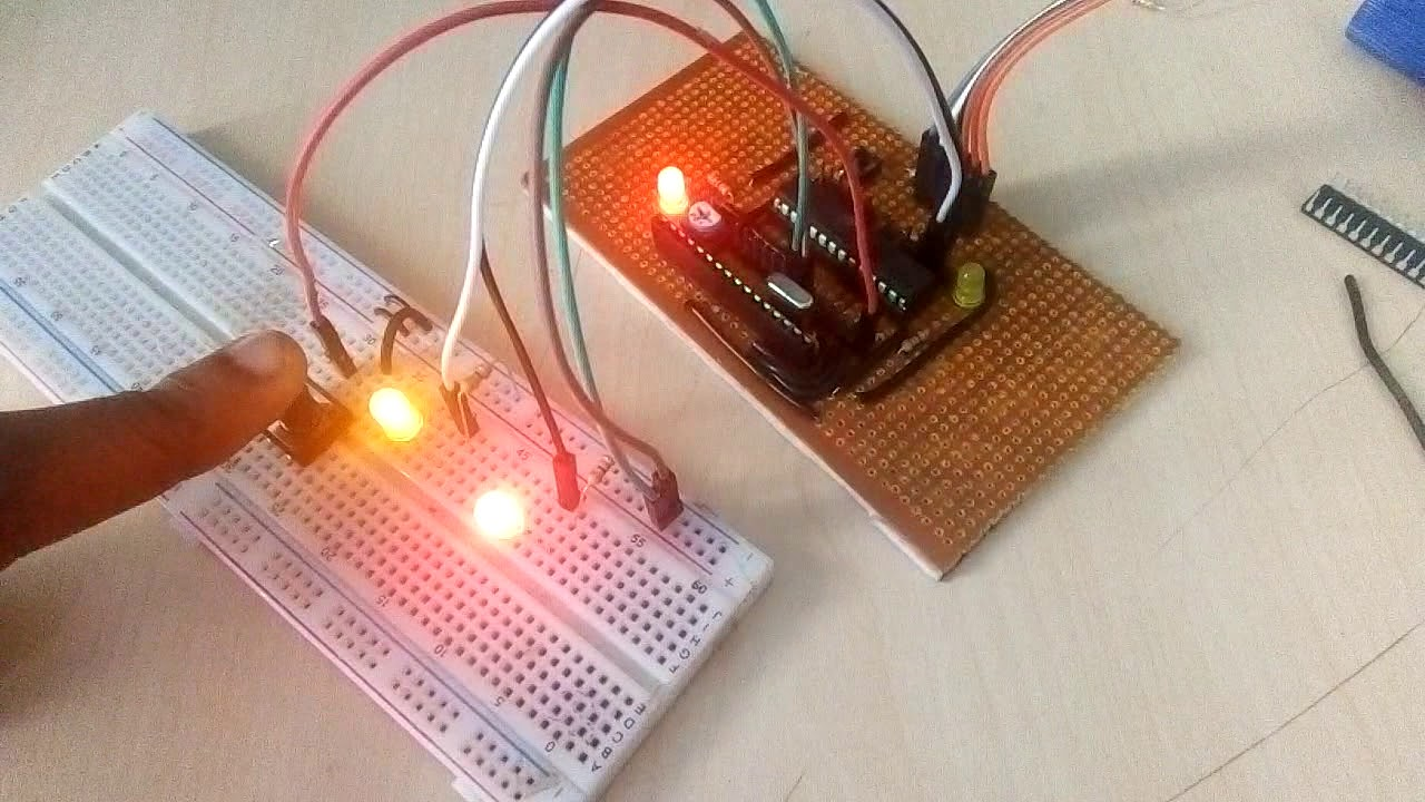 Control Two Leds Using Push Button Switch Avr Microcontroller Http Wwwcircuitstodaycom Passivetonecontrolcircuit Program