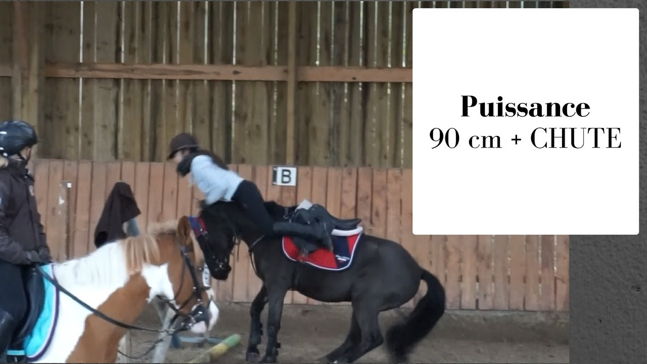 Cours de saut puissance G4 90 cm +chute - YouTube