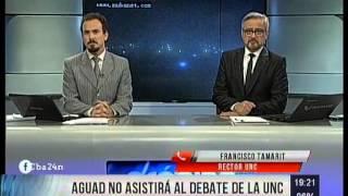 Oscar Aguad tampoco participará del debate en la UNC