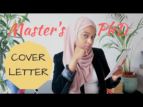 How To Successfully Write A PhD/Master's Application!
