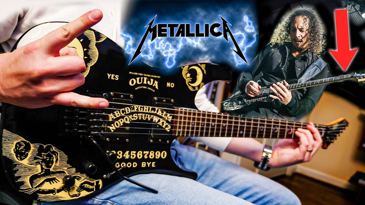 I Used KIRK HAMMETT'S GUITAR to Play His 5 BEST Metallica Solos