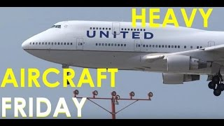 (HD) HEAVY AIRCRAFT FRIDAY - Watching Airliners / Planespotting Chicago O
