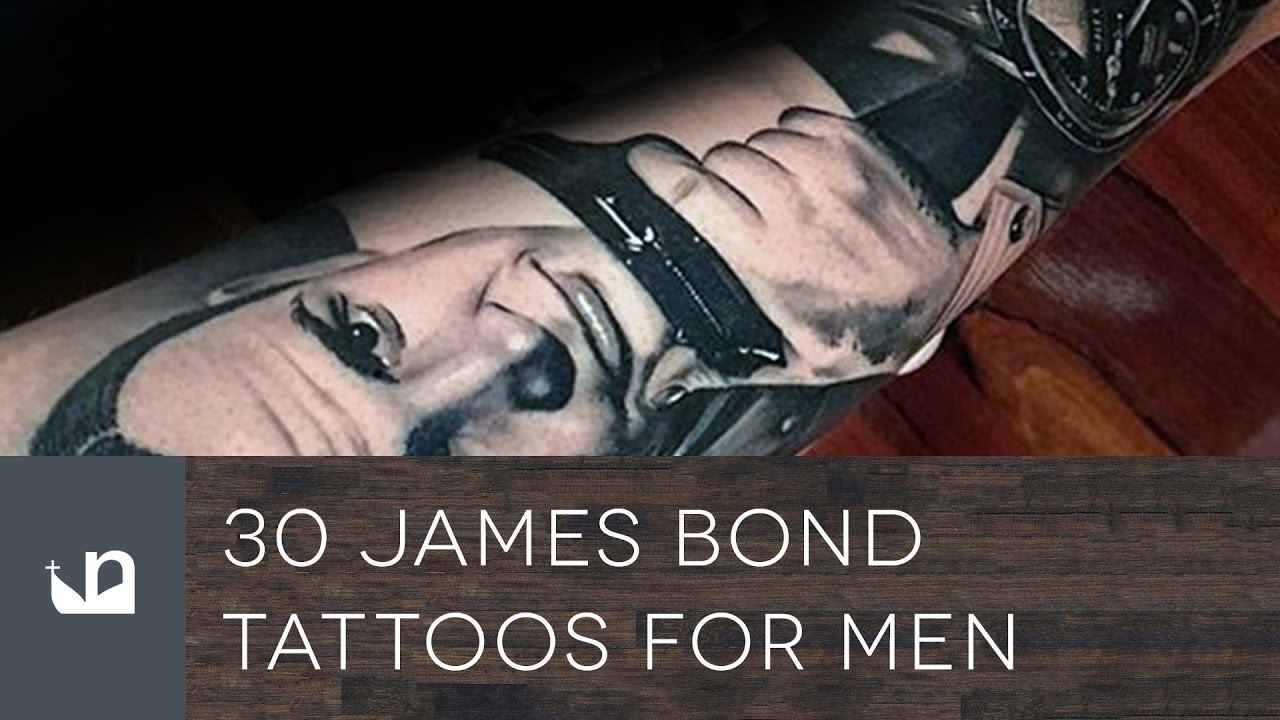 30 James Bond Tattoo Designs For Men – 007 Ink Ideas