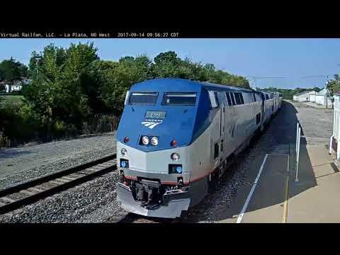 La Plata Amtrak #4 (9/14/2017) 9:57am Long Stop Lots passengers, LA to Chicago, South West Chief