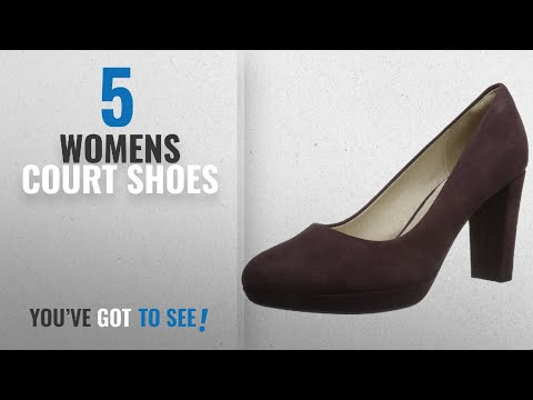 Top 10 Womens Court Shoes [2018]: Clarks Kendra Sienna, Women's Closed-Toe Pumps, Purple